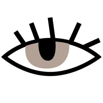 Eye (upper eyelash)