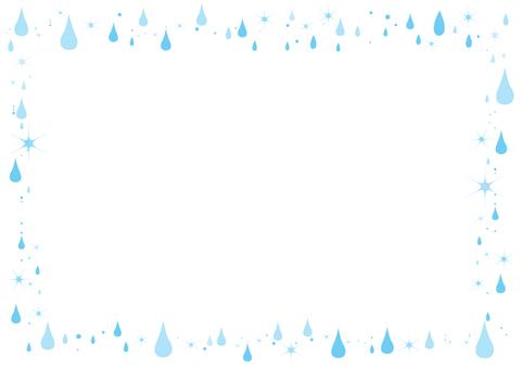Frame of raindrops