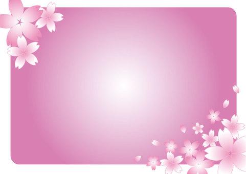 櫻花框架粉紅色01