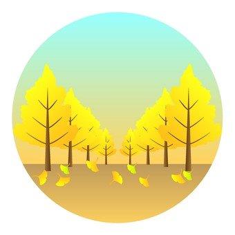 가을의 풍물 - う 가로수