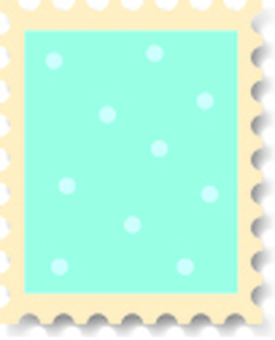 Sweet stamps polka dot blue