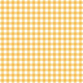 Gingham check (yellow)