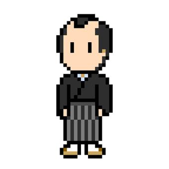 袴姿の侍 和服 時代劇 着物