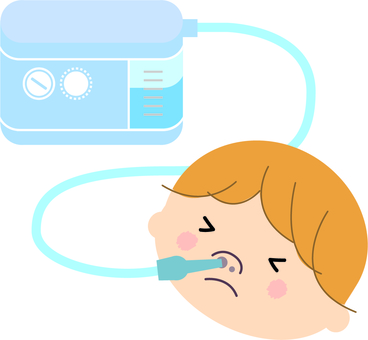 鼻吮吸與嬰兒流鼻涕的吸氣器
