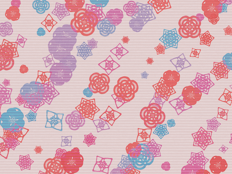 Chiyogami Japanese pattern scattering (pink)