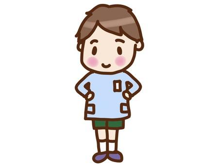 Kindergarten boy