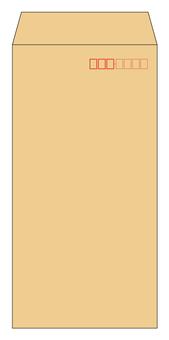 Long 3 envelope brown