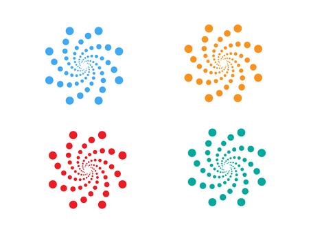 Swirl of polka dot pattern