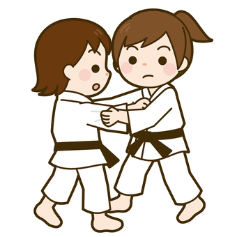 State of game of judo (girl)