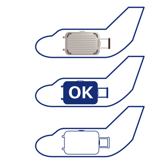 Bring your airplane icon bag OK
