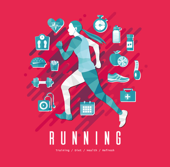 Running aerobic exercise A