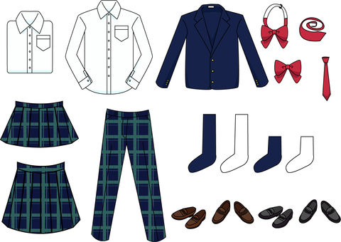 Uniform set of middle and high school