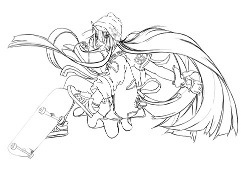 Maki Kashima, skatebo (rough sketch)
