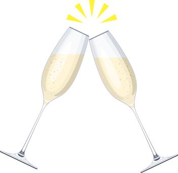 乾杯香檳起泡酒