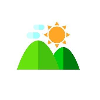 산과 태양