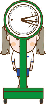 Weight measurement front girl 2
