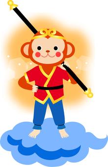 猴子的插圖孫悟空