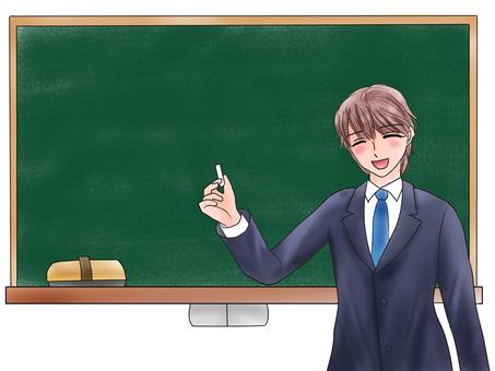 老师和黑板Niccoli