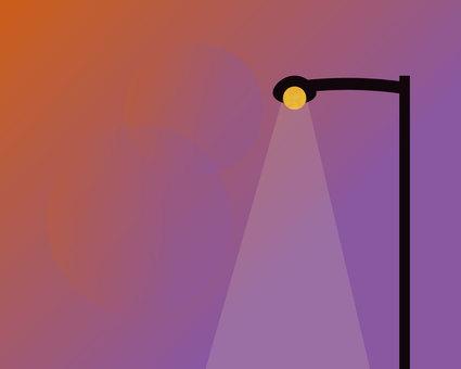 Evening street light