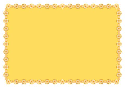 프레임 - 꽃의 고리 - 오렌지
