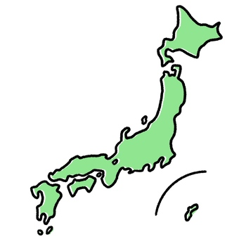 Rough map of Japan