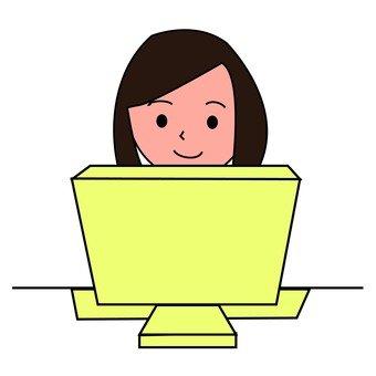 Women desk work