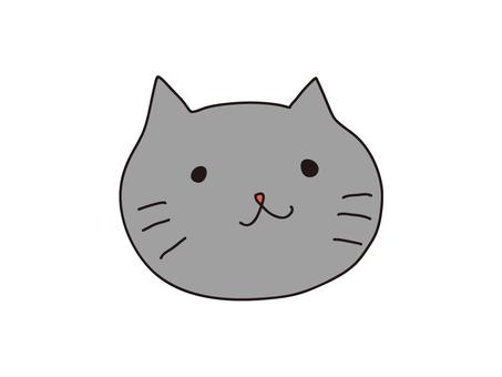 느슨한 회색 고양이 일러스트