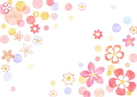 Floral Pattern _ Pastel _ Pink Background