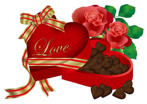 Heart Chocolate & Rose 23