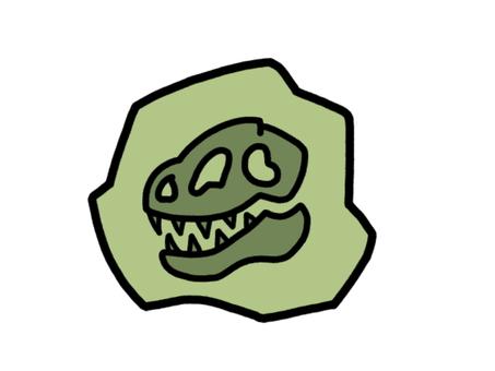 化石恐龍灰