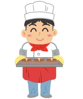 Clerk of a bakery