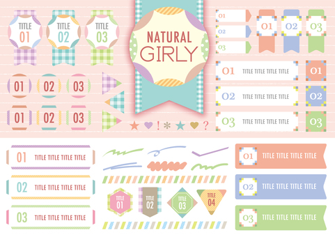 Girly label & frame_A