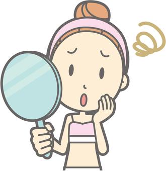 Female underwear a - mirror - bust