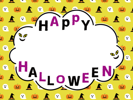 Halloween pattern background and frame