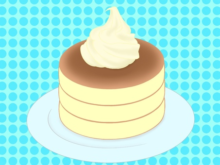 Pancake + cream