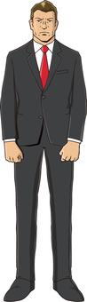 A red necktie businessman 3