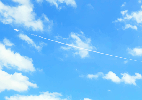 Blue sky and airplane background Wallpaper Texture 6