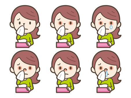 Female hay fever with hay fever