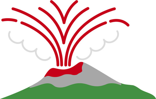 Illustration of eruption (volcano)
