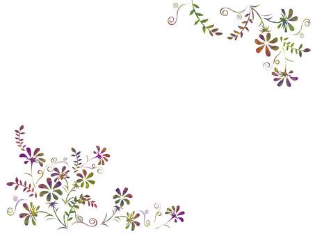 お花シルエットのフレーム