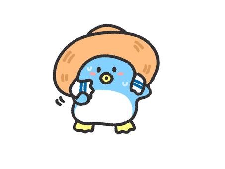 Straw penguin