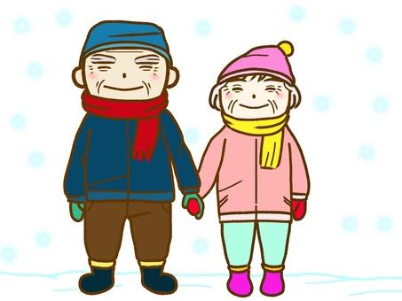 Grandfather's grandmother, winter version 02