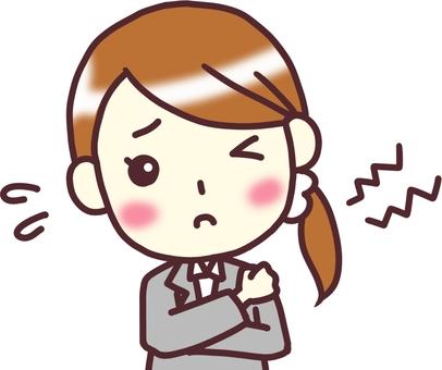 [여성 정장] 정면 기울여 _ 어깨 결림