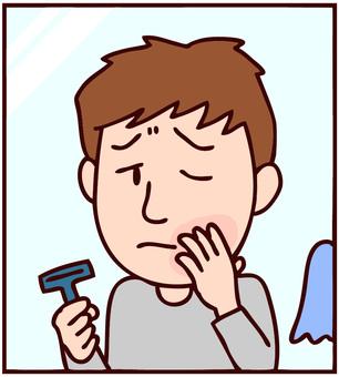 면도 후 피부 거칠음 남성