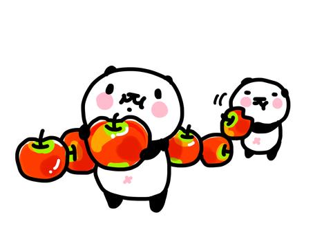 りんごとパンダ