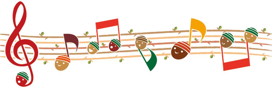 Autumn concert acor note line