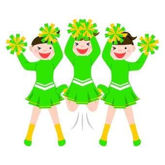 Green cheerlead (3 people)