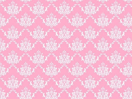錦緞圖案粉紅色