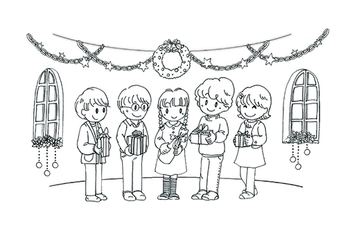 Christmas party drawing