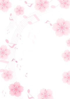 Cherry blossoms and notes
